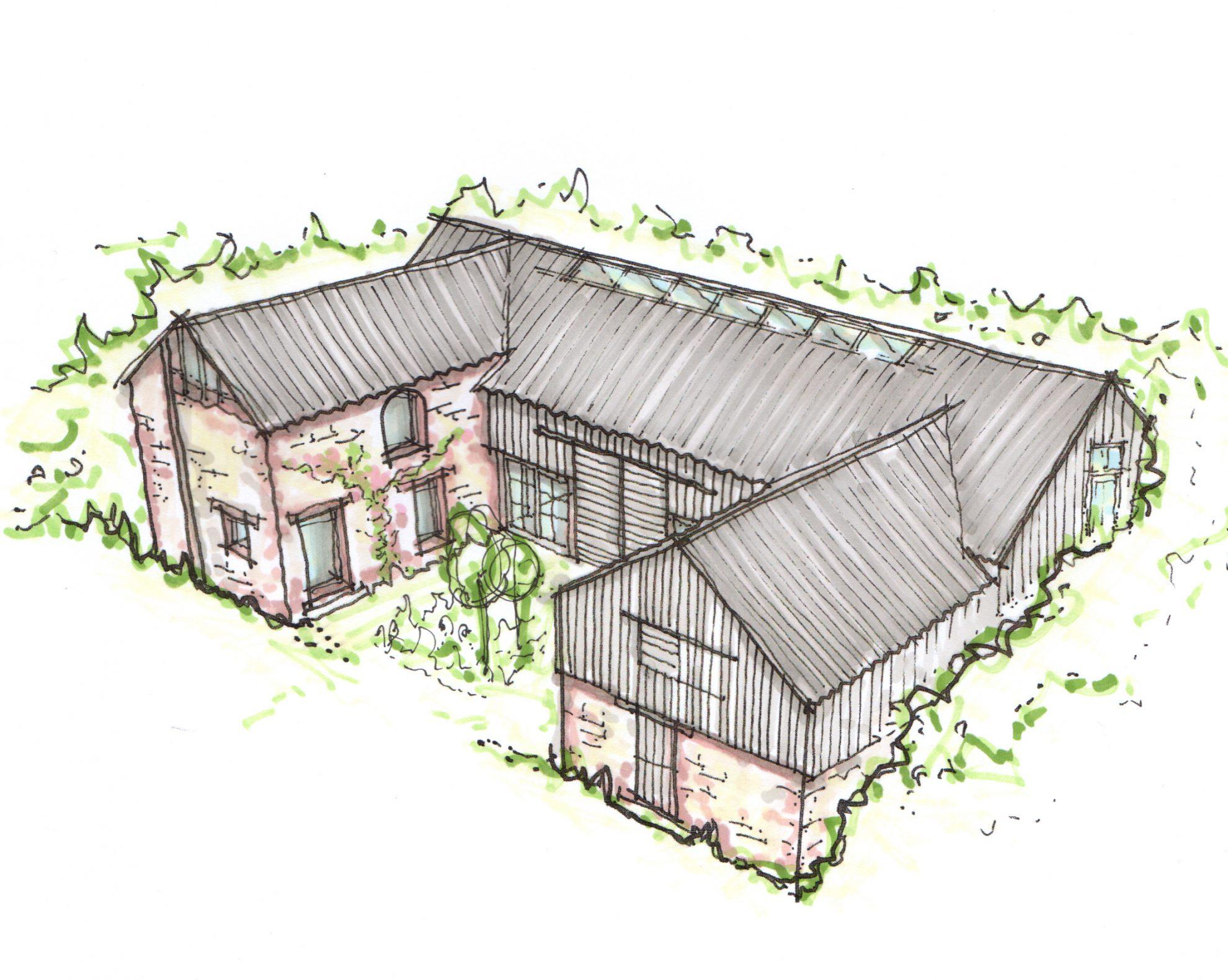 Mylor Farm barn renovation plan - residential architects in Cornwall, Truro