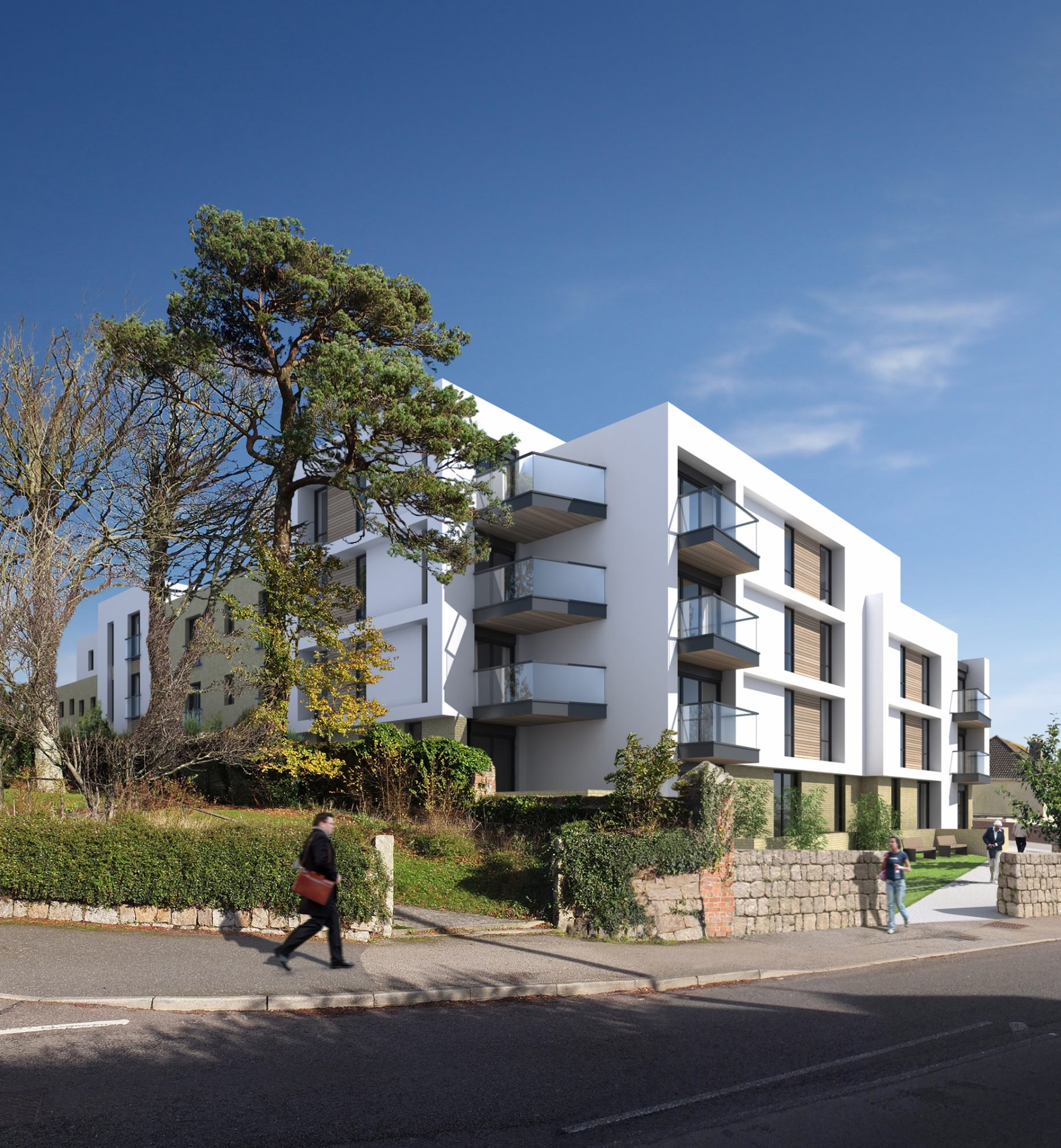 New flat apartment complex building in Cornwall - Residential Architects in Cornwall, Truro