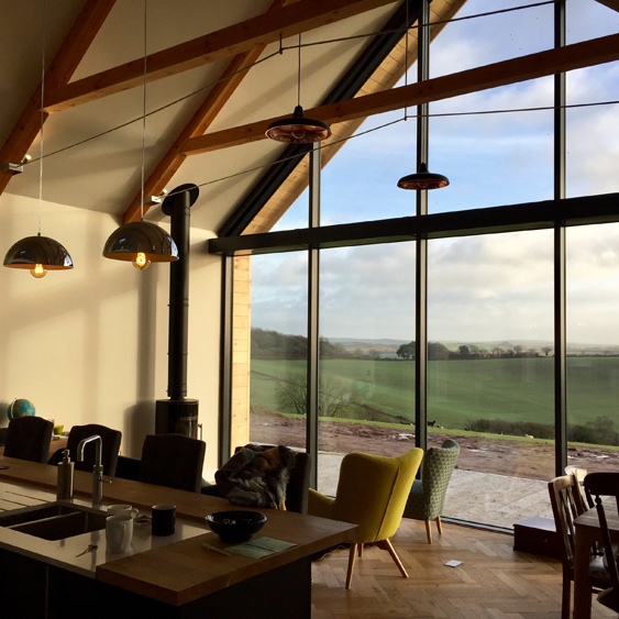 Residential kitchen and living space - Residential Architects in Cornwall, Truro
