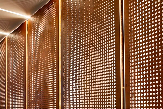Commercial wall fitting - commercial architects in Truro, Cornwall