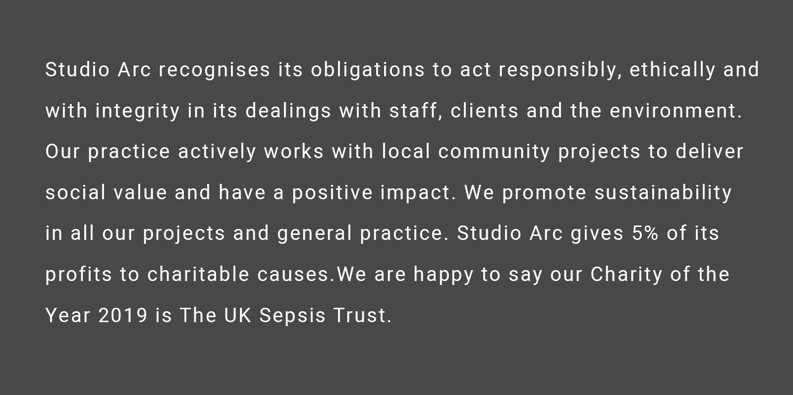 Studio Arc image on charity donations