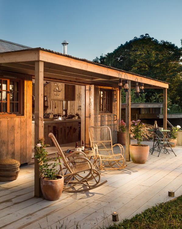 Residential patio, garden and kitchen - Residential Architects in Cornwall, Truro
