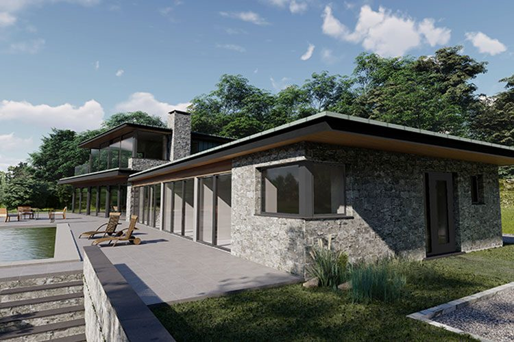 Rosie house exterior - Residential Architects in Cornwall, Truro