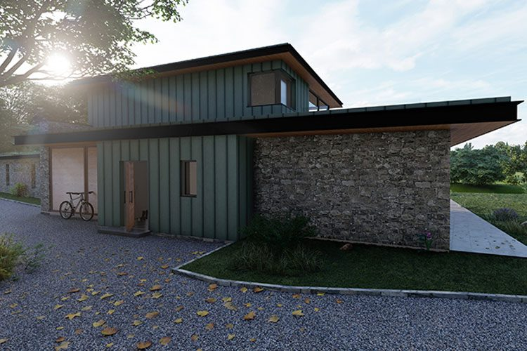 Rosie house rear exterior - Residential Architects in Cornwall, Truro