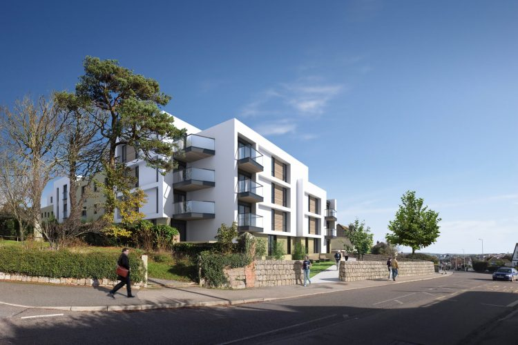 Residential retirement flat apartment complex building in Falmouth - Residential Architects in Cornwall, Truro