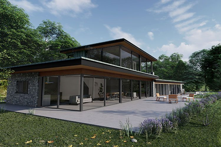 Rosie house patio and exterior - Residential Architects in Cornwall, Truro