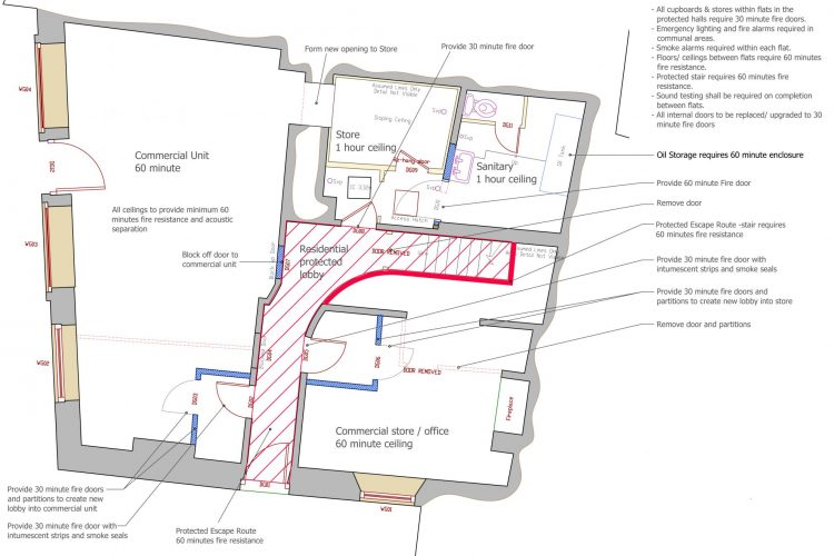 Boutique shop floor plan post office Mevagissey - Commercial Architects in Cornwall, Truro