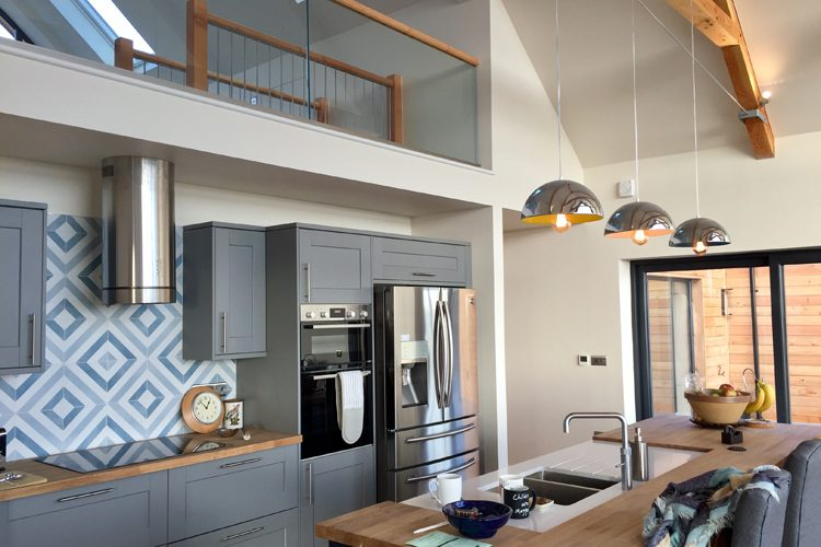 Modern residential kitchen in Cornwall - Residential Architects in Cornwall, Truro