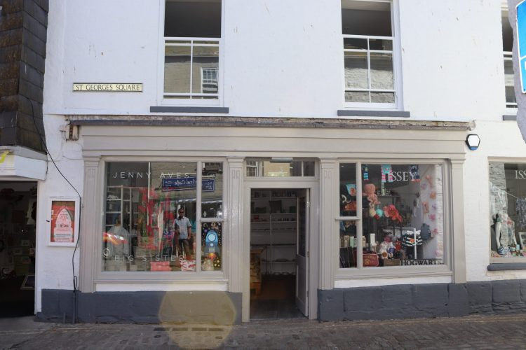 Store front of Jenny Aves Issey in Mevagissey -  - Commercial Architects in Cornwall, Truro