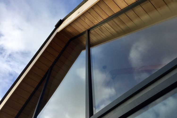 Living room window in roof trusses in Cornwall - Residential Architects in Cornwall, Truro