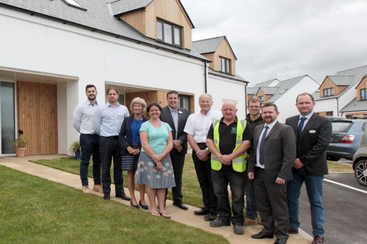 Representatives at Porthtowan housing development in Cornwall - Residential Architects in Cornwall, Truro