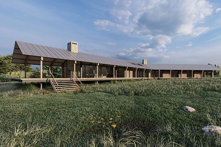 Rural house modern - residential architects in Cornwall, Truro