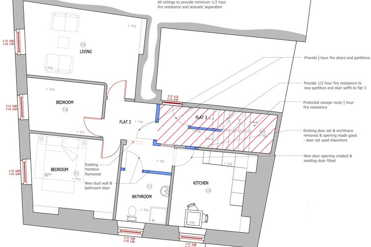 Mevagissey in Cornwall listed post office building conversion - Residential Architects in Cornwall, Truro